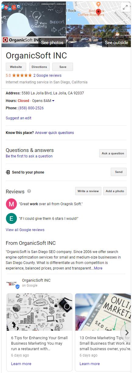 Google My Business Guide for Beginners - OrganicSoft Inc