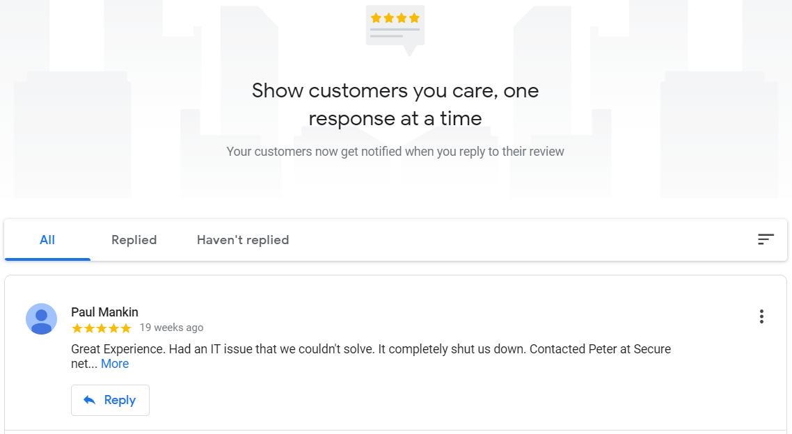 Reviews Google Listing