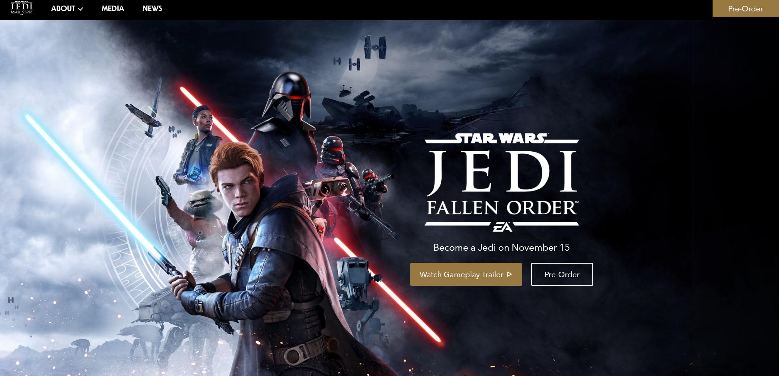 Jedi Landing Page
